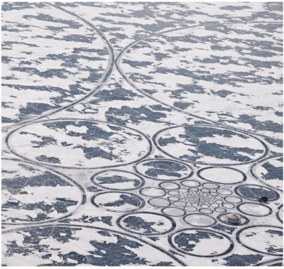 sebseballade:  Amazing Art On Frozen Lake