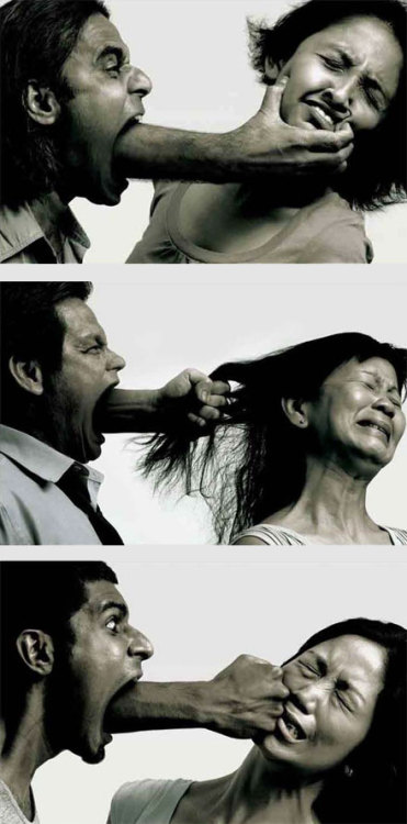 "looshy:  justlk:  This is such a powerful message. It shows that verbal abuse can hurt as much as physical abuse. That saying ""Sticks and stones may break my bones but words can never hurt me"" is, in fact, a lie, in my opinion. Words do hurt. A lot.   معبر جداً"