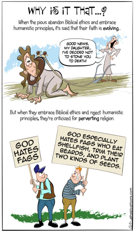 atheistcartoons.com » topsy-turvy Very good question.