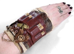 ON LOAN TO MAGAZINE Steampunk Cuff Industrial by edmdesigns