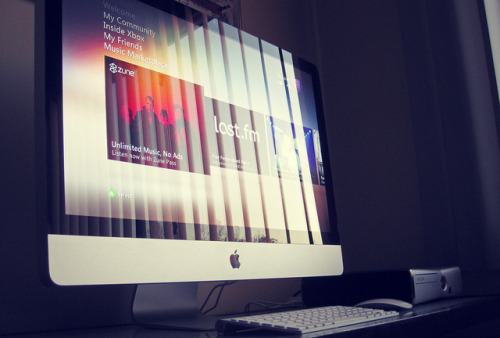 "Your Mac, MyMac, iMac. (by Levar Wheeler) Yeah! So i finally got my 27"" core i5 iMac and it's a beauty. An yes i do have my special edition Halo Reach Xbox 360 hooked up to it, and it's running the latest Xbox Live update which looks gorgeous by the way."