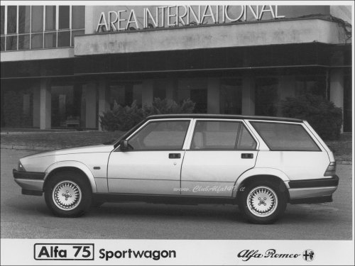 Alfa Romeo 75 Sportwagon Now here's something you don't see everyday. You should, but you don't! (via bennorussell)