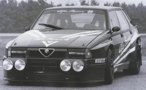 Alfa Romeo 75 IMSA Oh man, bennorussell, you're killing me today with these 75. The IMSA was the Touring version of the 75, I believe it competed in some ITC runs. As gorgeous as it was fast.