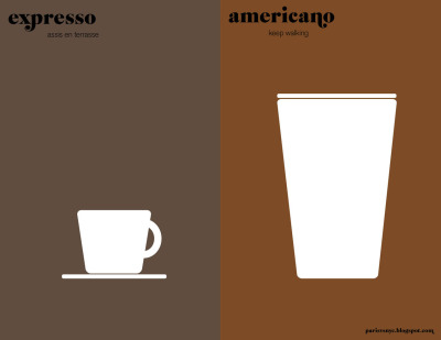 skibinskipedia:  My morning cup of Paris vs. New York, this morning via Fubiz.