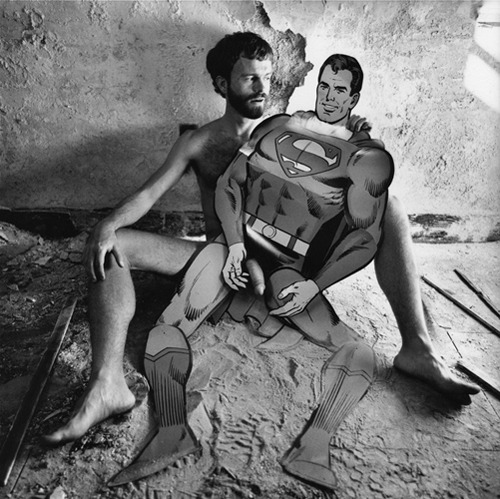 "Arthur Tress - Superman Fantasy, 1977 (in Bram Dijkstra's ""Naked: The Nude In America"", via artinfo; see previously)"