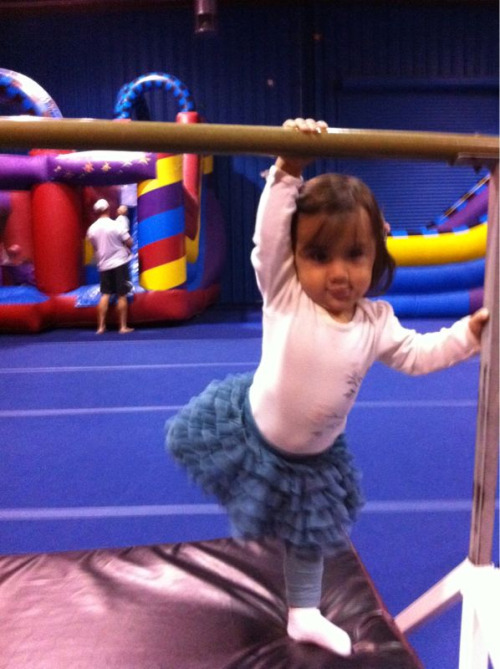 My little gymnast…