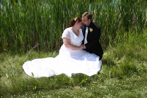 My husband, Brian, and I were married on July of 2007.  We were together for 2 years before that.  We both love and accept each other for who we are and what we look like.