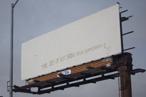 Sold (by Paul Mison) A billboard on Folsom Street, San Francisco.