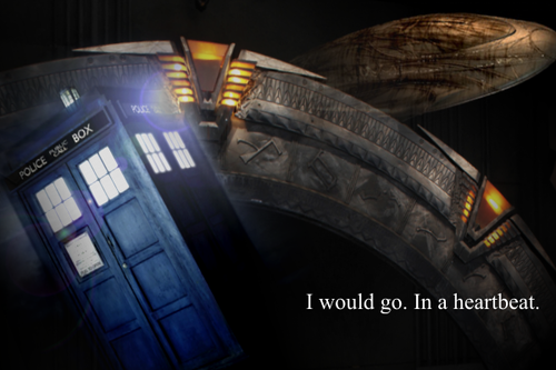 myheartisapinata:  fuckyeahdrwho Or less than a heartbeat.  Stargate y TARDIS!!!!!!!!!!
