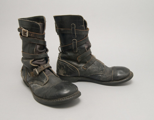 Everyday as artifactual/Peacock male: Tanker boots from I. Goldberg (by adam greenfield)