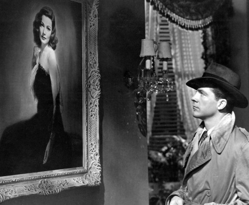 the-asphalt-jungle:  Dana Andrews and that iconic portrait Laura - (1944)