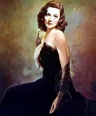 the-asphalt-jungle:  Gene Tierney Laura 1944  (The famous portrait of Laura was in fact a photograph that the studio lightly brushed with paint).