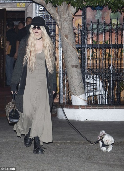 folkinz:  imagined internal monologue: taylor momsen's dog who is the bitch kidding? i mean, seriously, she looked in the mirror 15 times before we left the house…and i had to pee like a motherfucker.  i threw up in her favorite boots though.  and that lipstick? seriously girl? you're not fairuza balk in the craft. stop trying so hard to summon manon alright?  i need to get my swerve on. let's go to the dog park.