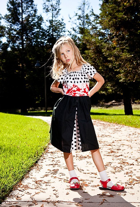 The Holiday Polka Dot Party Dress. Reclaimed cotton paired with a luscious scarlet red vintage print make this THE dress for the holidays. Recycling never looked so sweet!