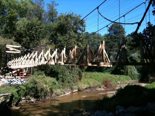 The Morningside Nature Preserve Bridge links two large urban greenspaces and nearly doubles the length of its trails.  The bridge is now complete - check it out when you can.  Thanks go out to the City of Atlanta, the MLPA, and our neighbors for getting this done.