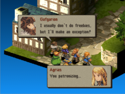 With the smallest twists of fate, Gafgarion and Agrias could have been the next Benedict and Beatrice.
