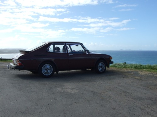 "1978 Saab 99 Turbo  After the last post, my friend Simon emailed me and insisted that his 99T was ""almost brown"". I leave it up to you to decide if he's right.  If Simon's 99T isn't brown enough for you, here's one I prepared earlier.  /via Simon"