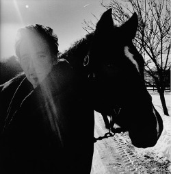 "byronic:  Bruce Springsteen, New Jersey, 2005 - by Anton Corbijn ""That came out of a shoot I did for his album Devils and Dust. I was a fan very early on, but I never managed to get a great picture of him until 2005. As a person to photograph he's up there in a way with Tom Waits, I think. Two great American icons. They're so mature, in a way. They've so become the people they want to be. It's like the Dutch queen; she was by herself when I photographed her. The English Queen had her whole staff. I think that's a sign of greatness. I spent some time with him in these pictures and it's great to see somebody who's their own boss."" Photo: Copyright Anton Corbijn; Courtesy of Stellan Holm Gallery (via Vulture)"