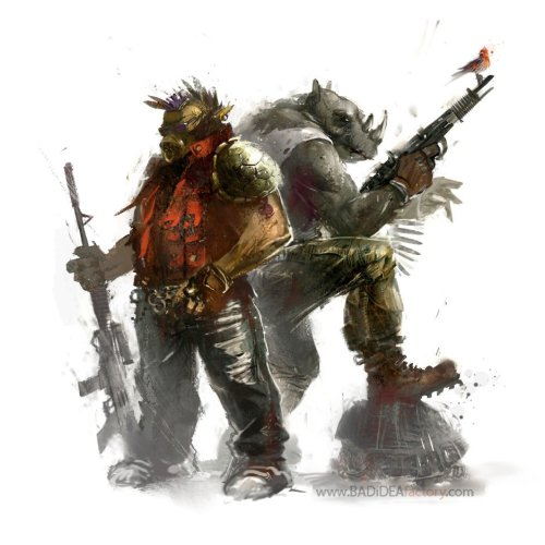 justinrampage:  The two TMNT thugs, Beebop n' Rocksteady, hate them pesky toitles! Beebop n' Rocksteady by Horia Dociu / BADiDEAfactory (CGHUB) (Twitter)