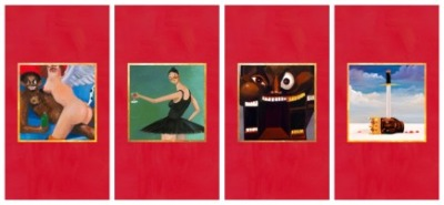 bef-blog:  Kanye Has Revealed 4 Of His Official 5 Album Covers For (Dec.14th) My Beautiful Dark Twisted Fantasy.. The First Cover Has Been Reportedly Banned.. Island Def Jam Were Unhappy With The Original Cover So Kanye Now Has An Offering Of 5 To Choose From.    reposted: www.urbanculturemagazine.org