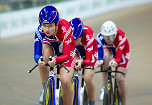 British women's trio added another gold - European Track Championships 2010 1. GB (Katie Colcough, Wendy Houvenaghel, Emma Trott) 2. Lithuania (Vaida Pikauskaite, Vilija Sereikaite,  Aušrine Trebaite)3.  Germany (Lisa Brennauer, Verena Jooss, Madeleine Sandig)4.  Belarus 5. Belgium 6. Poland 7. Russia 8. Ukraine 9. Netherlands 10.  Spain 11. France 12. Ireland 13. Italy 14. Czech Republic
