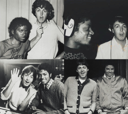 mjjalways:  Michael & Paul McCartney.