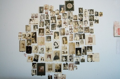A collection of found photos. I love how they've been pinned up, and think this could work really well. Just not sure which room in the house would suit it best…