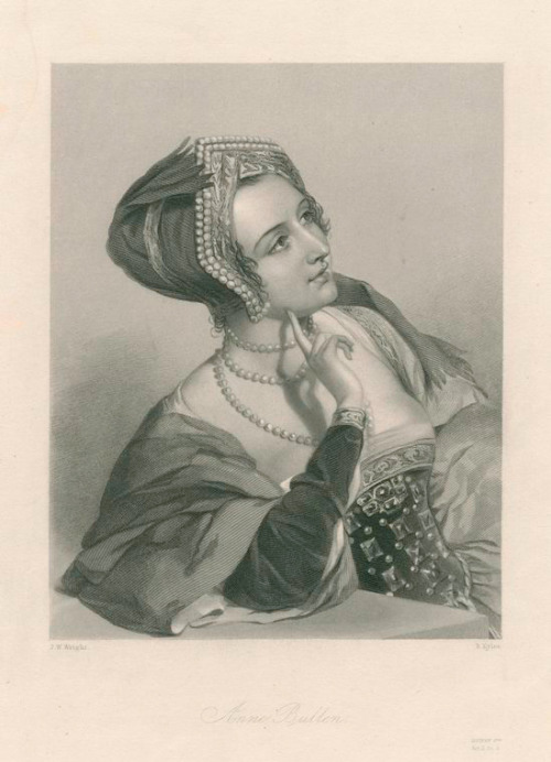 Engraving of Anne Bullen [Boleyn] (c.1501/1507-1536), date unknown.