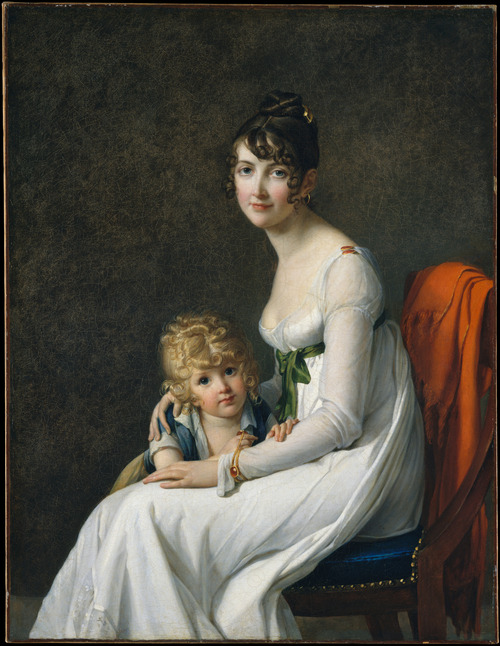 Madame Philippe Desbassayns de Richemont (Jeanne Eglé Mourgue, 1778–1855) and Her Son, Eugène (1800–1859) by French artist Marie-Guillelmine Benoist (1768–1826), ca. 1802-03.