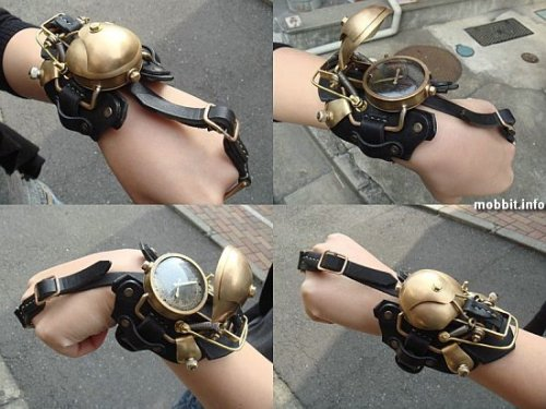 petitemuse:  steampunklove:  Steampunk Watch  somehow telling time would be 10x more interesting  This might be a bit too cumbersome for my taste.
