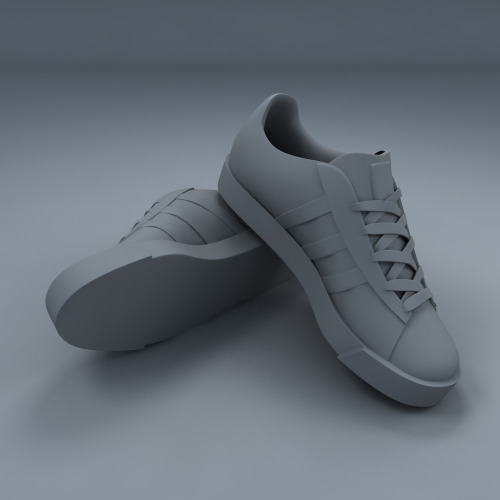 Just finalising the pair of shoes I made for my portfolio. Here is the clay render.
