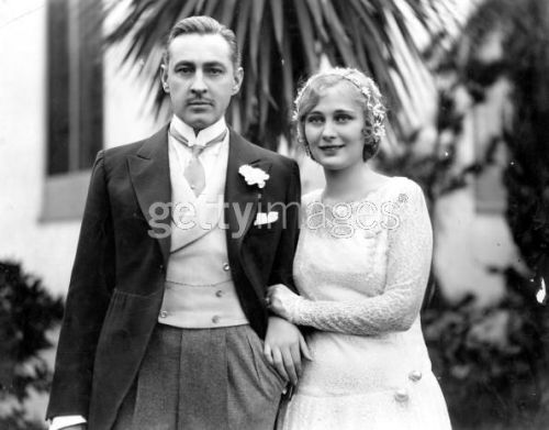 John Barrymore and Dolores Costello Wedding day - November 24th, 1928  Apologies For The Watermark!