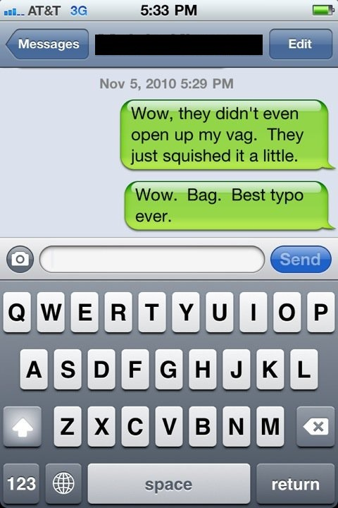 iPhone autocorrect lolz.