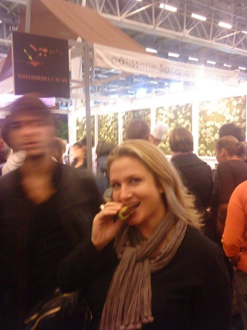 Here I am taking a bite outta life at the Salon du Chocolat exposition in Paris.