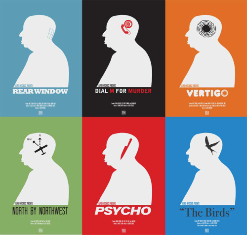 minimalmovieposters:  Modern Hitchcock by Matt Needle