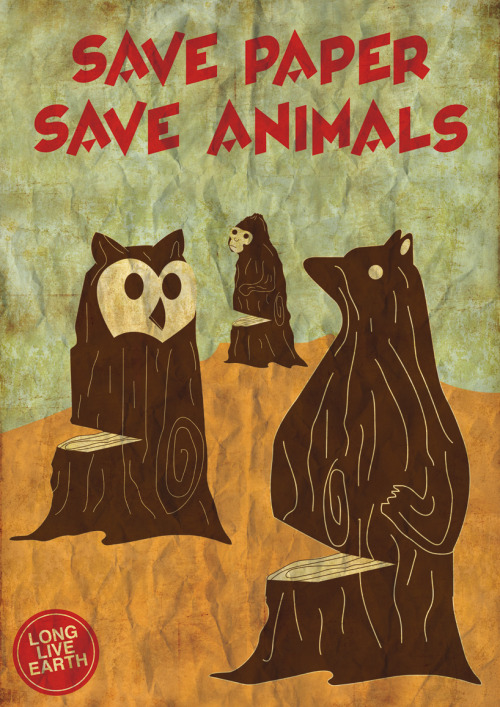 greenlightzine:  Save paper, save animals