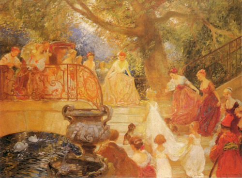 Visit of the Princess Royal by Gaston de Latouche (1854-1913), date unknown.
