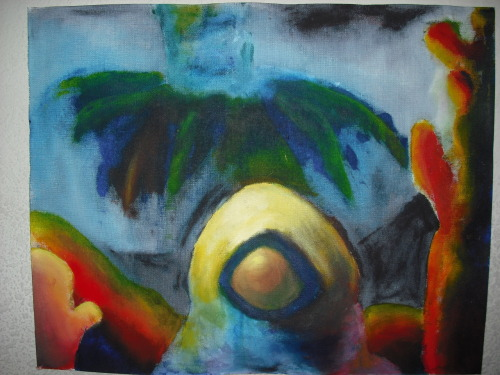 A fauvist painting :) I really like how it came out. We were supposed to base it on a landscape… but I really wanted to let my imagination take its toll <3 I'm happy I did.