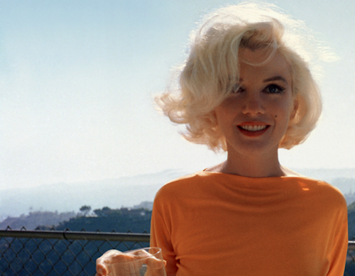thezoereport:  Marilyn in orange