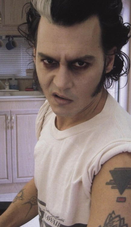 suicideblonde:  Sweeney Todd meets Cry Baby   dude check out his sweet triangle tattoo.