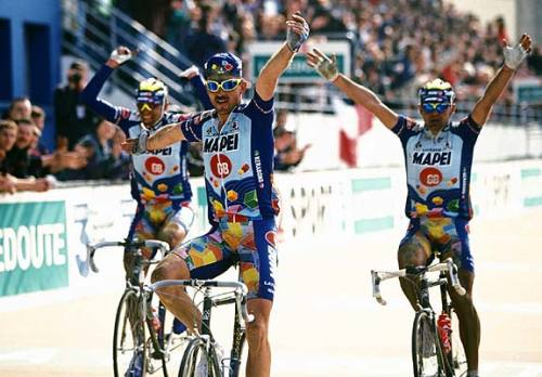 THREE TOUGH, TOUGH RIDERS AND A SPECIAL MOMENT IN RACING HISTORY.  THEY CAN'T DO THE YMCA FOR SHIT, THOUGH.