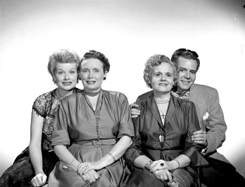 Lucy & Desi with their mothers