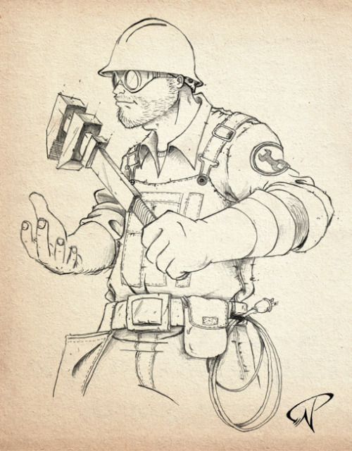 Team Fortress 2 - Engineer by ~Kalel06 Featured on Tumblr's Radar! (via herochan)