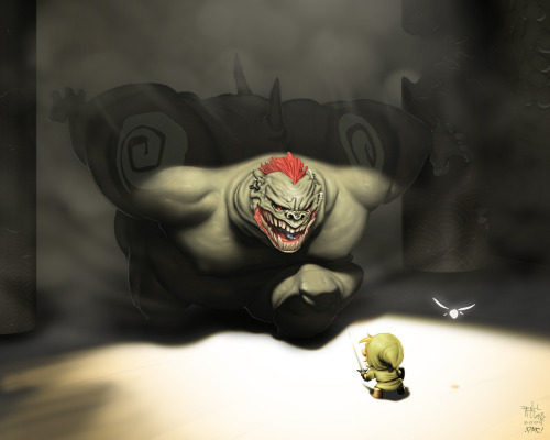 Ganon Vs Link Colors by `pacman23  (via rmsk8r05)