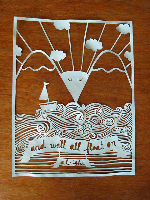bookspaperscissors:  float on (by Elle)  Fuck yes Modest Mouse!