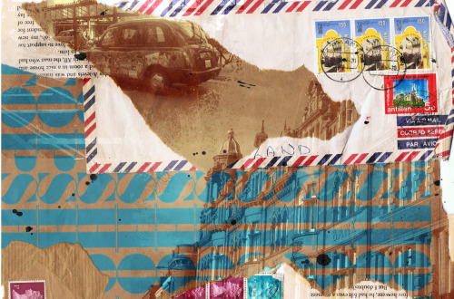 nayhomey:  I made the collage for a project, simply out of envelopes and brown paper. Then I added some effects on photoshop with some images I had taken. :)   Nay is one of my students, she used this to make a BE-AUTIFUL solution to a clothing company design brief.
