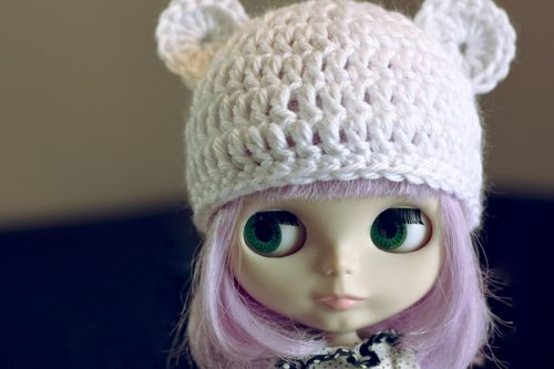 fivefonts:  gigikennedy:  .cutie bear hat pattern. - Red Velvet Art Blog  would this fit a canadian girl doll? will try