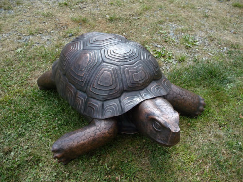 Copper Tortoise Sculpture by ~jeremymaronpot