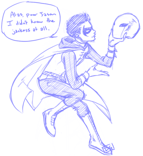 Okay, I seriously want Jason and Damian to have at least a funny one-on-one chat together. Something tells me there would be lots of funny insults and comebacks. PLEASE MAKE THIS HAPPEN, DC. ♥