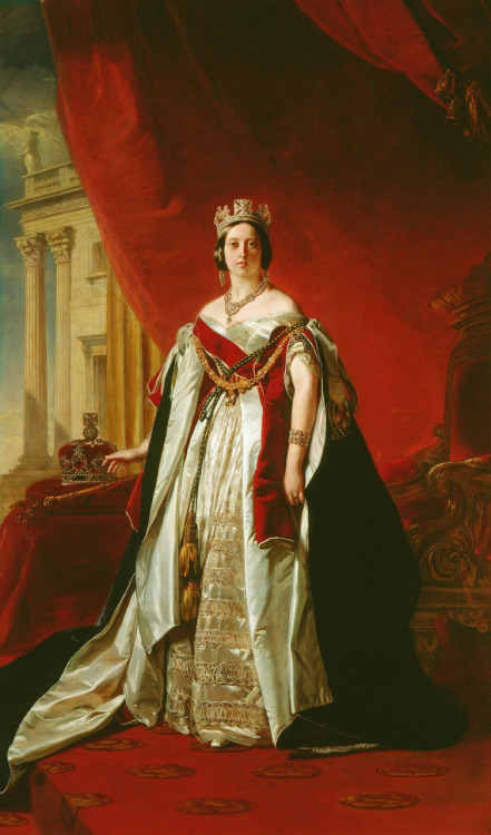 Queen Victoria (1819-1901) by Franz Xaver Winterhalter (1805-1873), 1843.